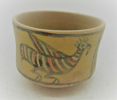 Ancient Indus Valley Harappan Terracotta Vessel With Bird Motifs 2000 Bc