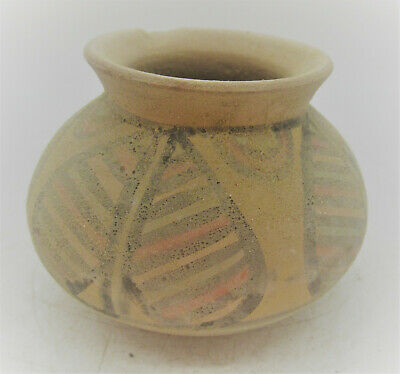 Ancient Indus Valley Harappan Terracotta Vessel With Pattern Motifs 2000 Bc