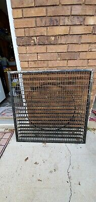 "HUGE ANTIQUE VICTORIAN CAST IRON 36"" x36"" FLOOR GRATE COLD AIR RETURN TABLE SIZE"