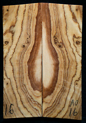 """African Wild Olive #16 Knife Scales 5""""x1.7""""x 5/16"""""""