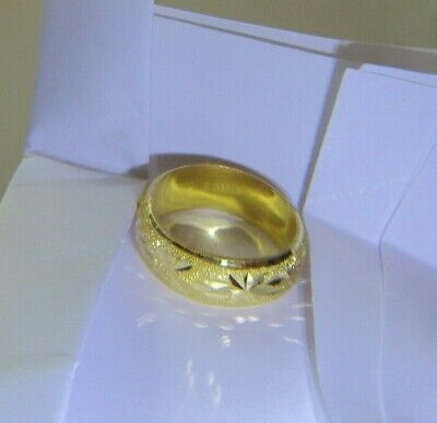 22k 22kt solid gold ring band 3.8 grams size 10 BEAUTIFUL WEDDING THAILAND 18kt