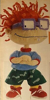 Vintage Alan Dart's Rugrats Chuckie Toy & Reptar Sweater Knitting Pattern New