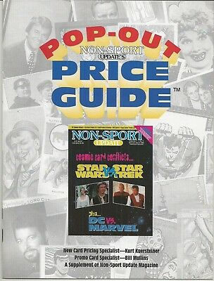 Non-Sport Update Popout Price Guide Volume 7 #1 Feb / Mar 1996