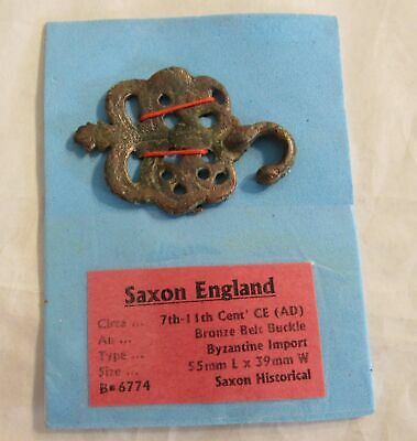 700-1100 Saxon England Antique Bronze Belt Buckle Archeological Artifact RARE