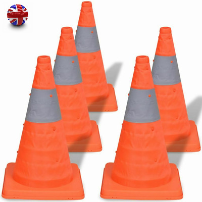 5pcs Set Pop-up Traffic Cones Foldable Traffic Warning Parking Safety Road Guard