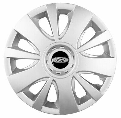 """15/"""" Wheel trims fit Ford Focus Fiesta Connect Custom 4 x15 inches silver"""