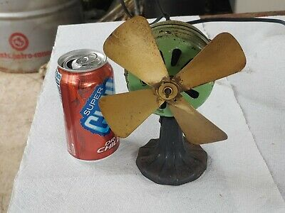 Antique Cast Iron And Brass Fan Small Works