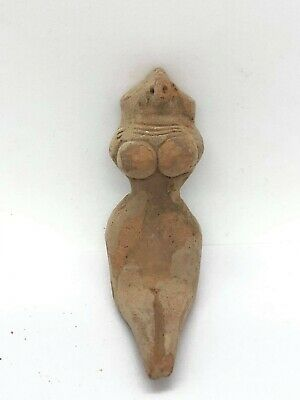 ANCIENT INDUS VALLEY HARAPPAN TERRACOTTA SEATED FERTILITY GODDESS figuration T07