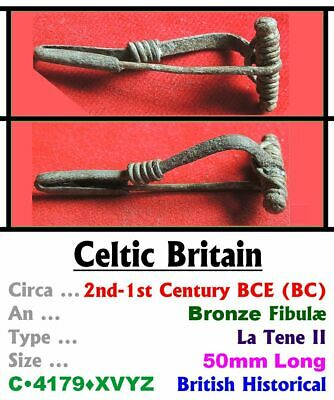 Artifact • Celtic Britain • Æ Fibulæ (Brooch) • 2nd-1st Cent' CE • C•4179•XVYZ