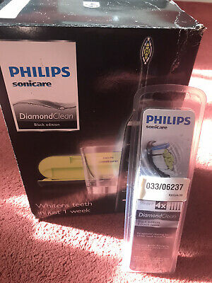 philips sonicare diamondclean electric toothbrush 4x Standard Black Edition Head