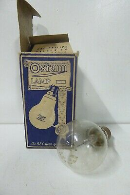 Vintage Phillips Osram Gas Filled Light Bulb In Original Box - Collectors Piece