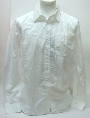 Mexx Men's Classic Business Shirt With Breast Pocket White Uni Long Sleeve New