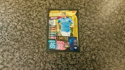 MATCH ATTAX UCL 2018//19 LE15 KEVIN DE BRUYNE LIMITED EDITION MINT
