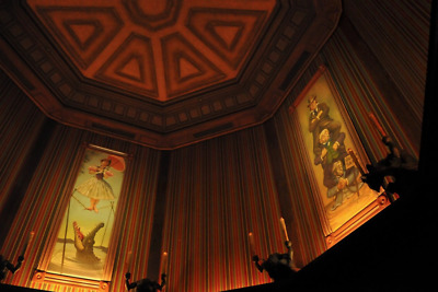 """HUGE Haunted Mansion Stretching Room Gallery set of 4 16x48"""" Disneyland Giclee"""