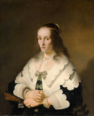 Oil painting ferdinand bol - Portrait of Lady noble lady art hand painted canvas