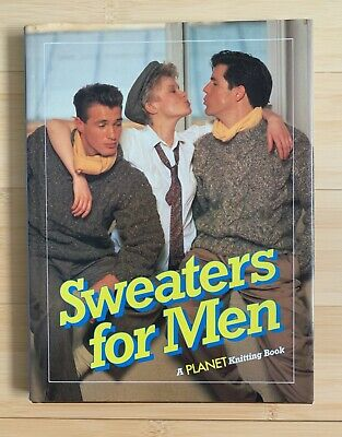 Vintage Mens Knitting Patterns 1985 excellent condition