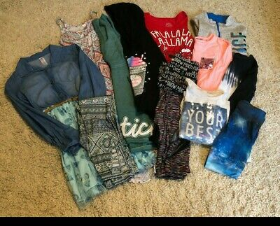 Girls Justice Clothes Lot Size 10-12