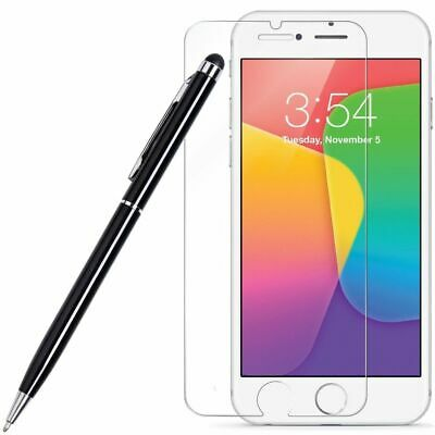 HD Premium Round Edge Tempered Glass Screen Protector + Stylus Pen for iPhone 6