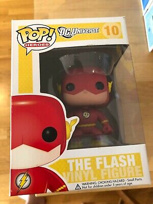 Funko Pop Vinyl Figure New Boxed Vaulted Dc Universe The Flash #10 10 Retired