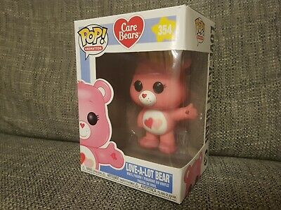 Funko Pop Love-A-Lot Bear #354 Care Bears Animation Vinyl Boxed Bundle Available