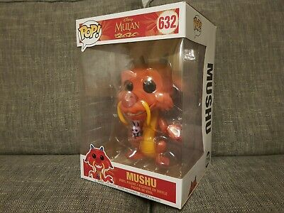 Funko Pop Mushu #632 Disney Mulan Movies 10 Inch Vinyl Boxed Bundle Available