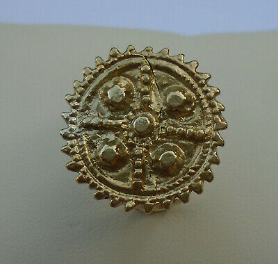 WONDERFUL ANCIENT ROMAN/BYZANTINE GOLD GILDED RING wearable, 22,7g