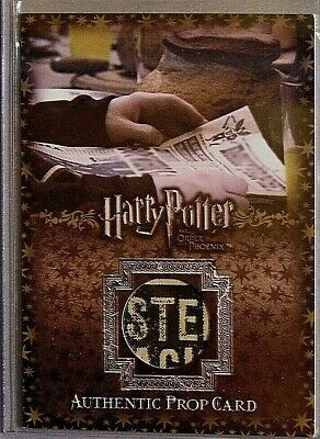 Harry Potter-OOTP-Screen Used-Movie-Film-Relic-Prop Card-The Daily Prophet-P3