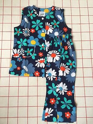 Vtg 60s 70s kids trousers tunic suit flower power Quant psychedelic 18m 1 - 2 yr