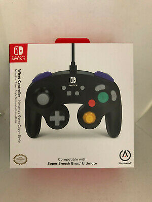 PowerA Nintendo Switch GameCube Style Wired Controller, Black , NEW , SEALED