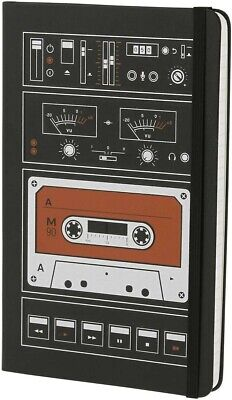 Moleskine Audio Cassette Limited Edition Notebook, Large/Ruled/Black/Hard Cover