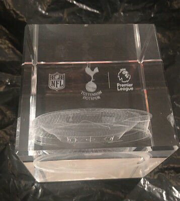 Tottenham Hotspur Fc Spurs Glass Stadium Paperweight