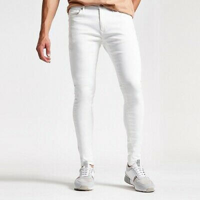 NEW!! River Island White Danny super skinny jeans Size W38 L30 Men's Boys
