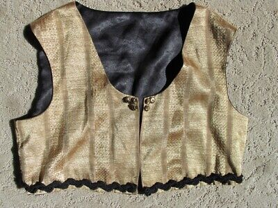 Gold vest top size small professional belly dance zumba fusion