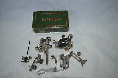 Vintage Singer 221 Featherweight  Sewing Machine Attachments 456360 Lot