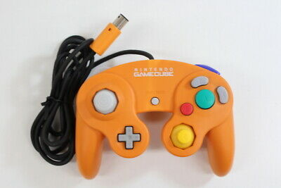 Official Nintendo GameCube Controller Orange Cord Damage Discolored Switch Tight