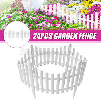 """White Plastic /""""Quick-fix 2/"""" Post /& Chain Fencing With Ground Spike Exhibition"""