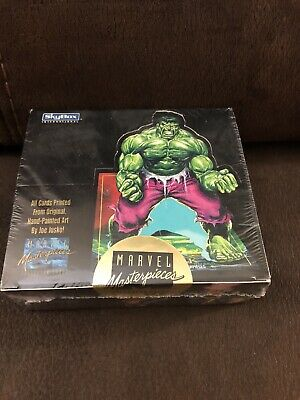 1992 Marvel Masterpieces SkyBox Trading Cards - 36 Packs - Sealed Box 1st Series
