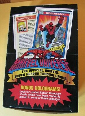 Marvel Universe SERIES 1 - ONE Complete Box 36 Unopened Packs (Impel, 1990)