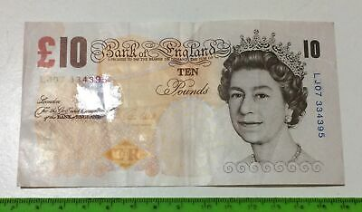 LJ07 334395 - OLD £10 💷 Bank 🏦 of England 🏴󠁧󠁢󠁥󠁮󠁧󠁿(issued 2000)