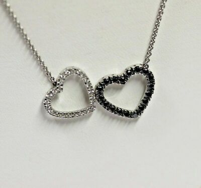 1.00CT Round Diamond Dancing Stone Heart Necklace Pendant 18K Rose Gold Over