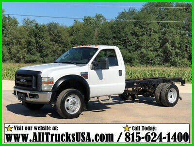 2008 Ford F550 6.4 POWERSTROKE TURBO DIESEL CAB AND CHASSIS TRUCK Regular cab