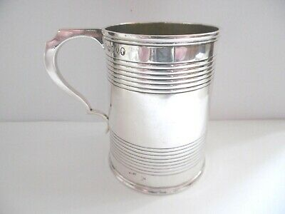 Lovely Antique Victorian Solid Silver Small Tankard London 1876 156G