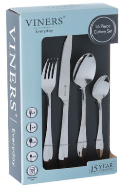 VINERS FLEUR 16 PIECE STAINLESS STEEL CUTLERY SET IN GIFT BOX