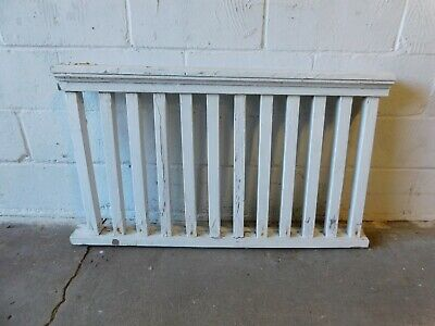 1800's Antique PORCH RAILING White Chippy VICTORIAN Style Architectural Salvage