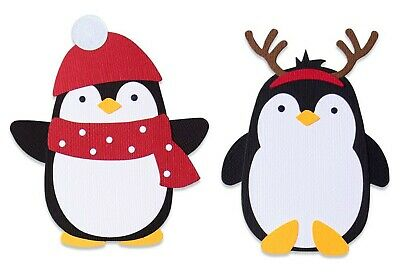 Sizzix Bigz Penguin #2 die #663406 Retail $19.99 SWEET Cuts Fabric!!!