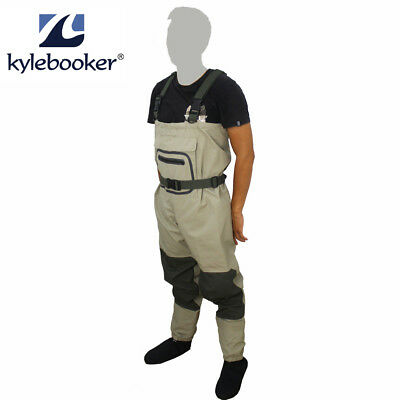 Breathable Fly Fishing Waders Hodgman H3 Stocking Foot Chest Waders All Sizes