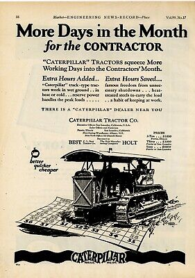 Caterpillar Tractor Ad To Dealerships 1924 Holt Manufacturing  New Metal Sign