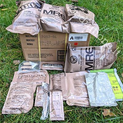 US Military MRE Army Food Ration Survival Meal Combat Pack Original 2022 Insp