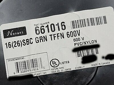 Nexans #16awg 26 Stranded TFFN//AWM//MTW Building Fixture Wire Blue //100ft