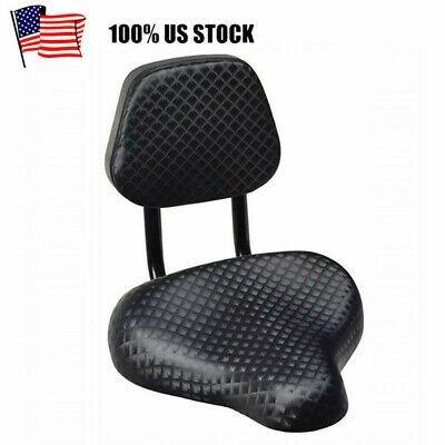 Bicycle Tricycle Cruiser Saddle Seat PU Cushion Pad With Back Rest Seat 25x25cm